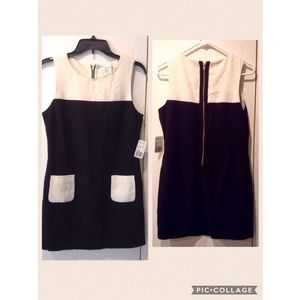 💕FOREVER 21💕 Black and Cream Sleeveless Dress